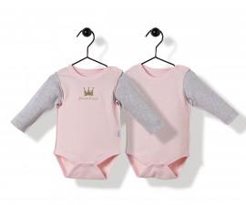 Bebetto Princess Penguin Cotton Baby Bodysuit 2 Pcs - Long Sleeved - T2519