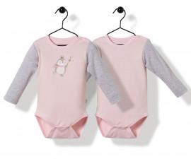 Bebetto Princess Penguin Cotton Baby Bodysuit 2 Pcs - Long Sleeved - T2520