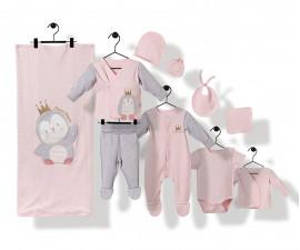 Bebetto Princess Penguin Cotton Baby Newborn Set 10 Pcs - Z745