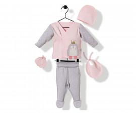 Bebetto Princess Penguin Cotton Baby Newborn Set 5 Pcs - Z747