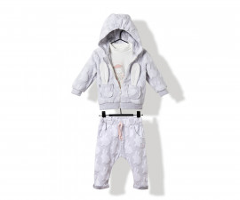 Bebetto Rabbit Velveteen Baby 3 Pcs Set (Cardigan W/Hood+Sweatshirt+Pants) - K2817
