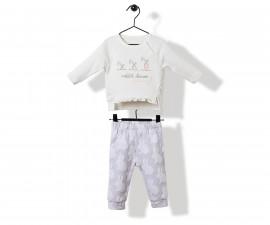 Bebetto Rabbit Velveteen Baby 2 Pcs Set (Sweatshirt+Pants) - K2818
