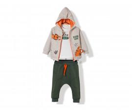 Bebetto Roaring Tiger Cotton Baby 3 Pcs Set (Cardigan+Sweatshirt+Pants) - K2861