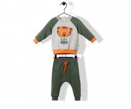 Bebetto Roaring Tiger Cotton Baby 2 Pcs Set (Sweatshirt+Pants) - K2862