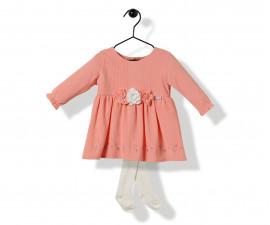 Bebetto So Beautiful Velveteen Baby 2 Pcs Set (Dress+Pant Hose) - K3206