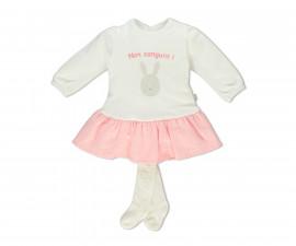Bebetto Tiny Points Baby 2 Pcs Set (Dress+Pant Hose) - K3257