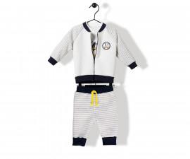 Bebetto Trouble Makers Quilted Baby 3 Pcs Set (Cardigan+Sweatshirt+Pants) - K2841