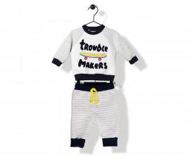 Bebetto Trouble Makers Quilted Baby 2 Pcs Set (Sweatshirt+Pants) - K2842