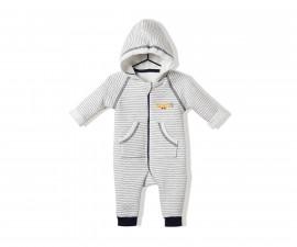 Bebetto Trouble Makers Quiltede Baby Romper W/Hood - K2844