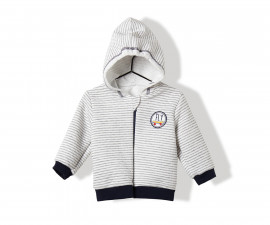 Bebetto Trouble Makers Quilted Baby Cardigan W/Hood - K2845