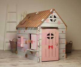 Картонена детска къща за игра Сладко щастие XL