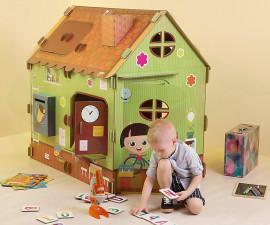 Картонена детска къща за игра Училище XL