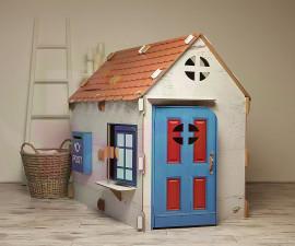 Картонена детска къща за игра Селска къщурка XL