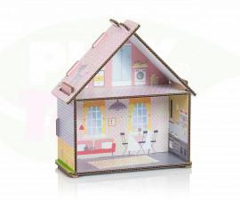 Картонена детска къща за кукли