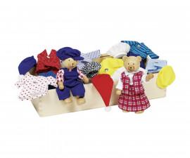 детска играчка кукли за преобличане в кутия Мечешко семейство Goki