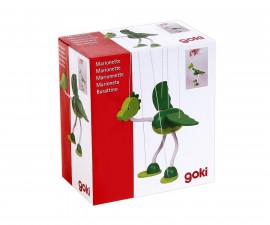 детска играчка дървена марионетка динозавър Непомук Goki