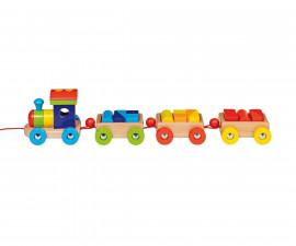 детска играчка дървено влакче Орландо Goki