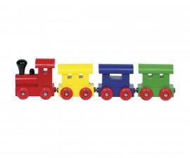 детска играчка дървено влакче с магнитно свързване Хелзинки Goki