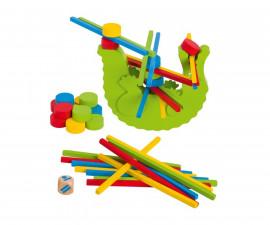 детска играчка балансна игра Крокодил Goki