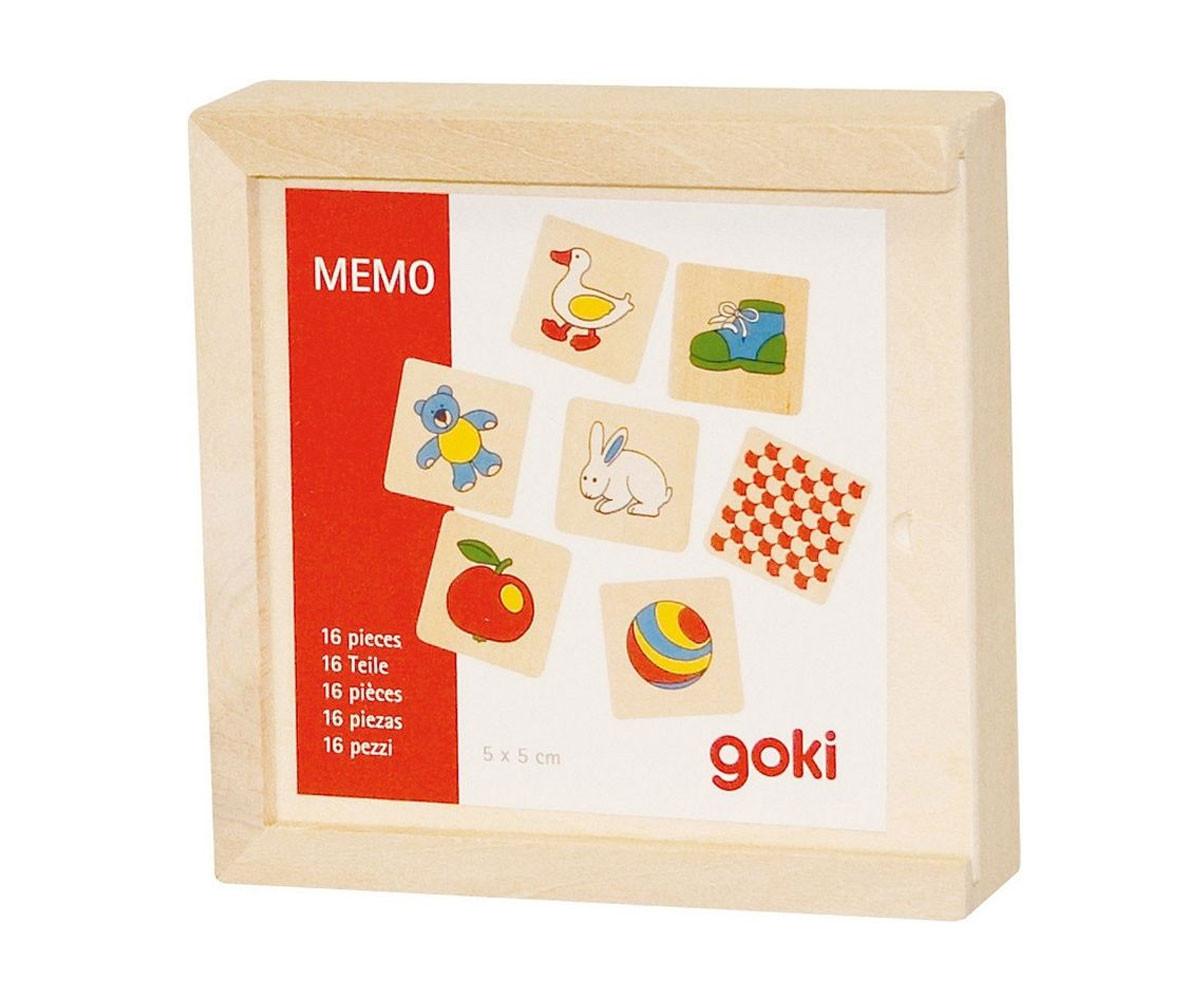 Игра за памет (мемори) Пади в дървена кутия Goki