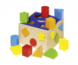 детска дървена играчка за сортиране (низанка) Кутия Goki
