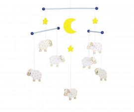 детска играчка висяща декорация за детска стая Луна и Овчици Goki