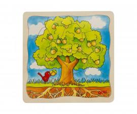 детска играчка многослоен дървен пъзел дърво Goki