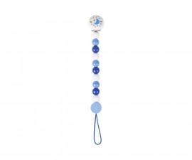 детска играчка дървена верижка за залъгалка Синя луна Goki