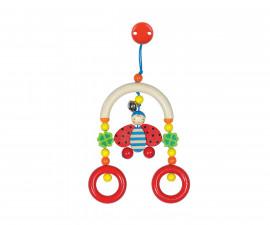 дървена бебешка играчка мини трапец Калинка Goki