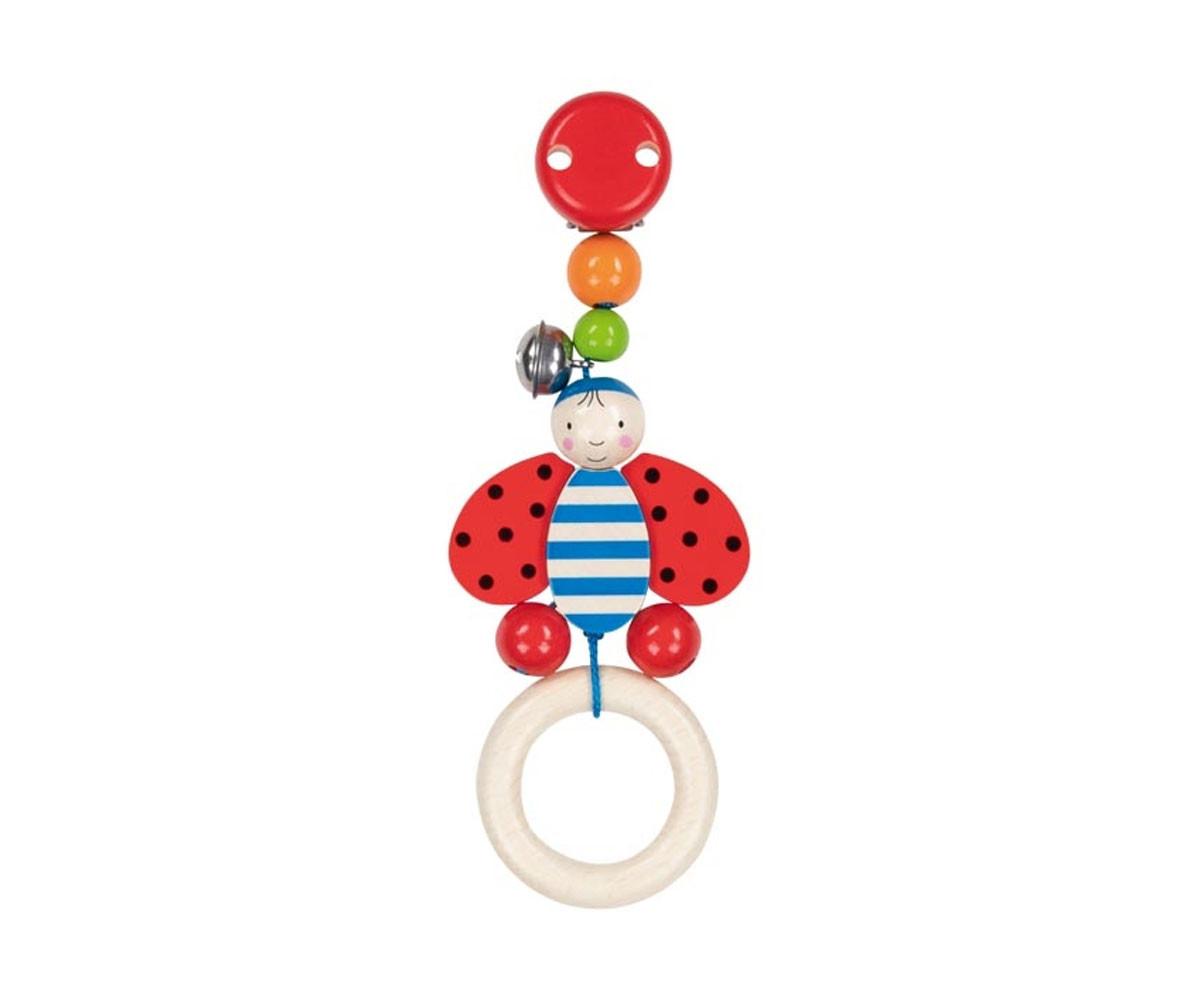 детска играчка дървена дрънкалка-клипс Калинка Goki