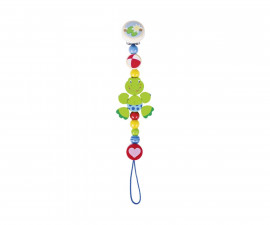 детска играчка дървена верижка за залъгалка Жабка Goki