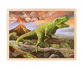 детска играчка дървена верижка за залъгалка Пате Goki