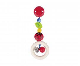 детска играчка дървена дрънкалка-клипс Калинка I Goki