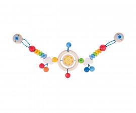 дървена бебешка играчка за количка Слънце Goki