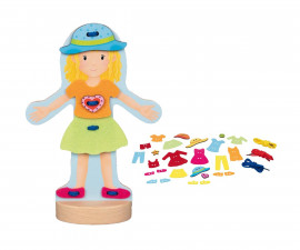 детска играчка кукла за обличане от дърво Goki