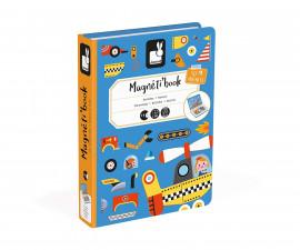 детска магнитна книга Janod - Превозни средства