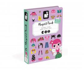 детска магнитна книга Janod - Момичета с магнитни дрехи