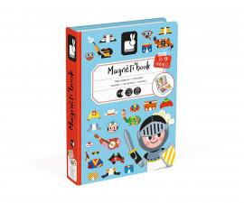 детска магнитна книга Janod - Момчета с магнитни дрехи