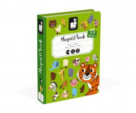детска магнитна книга Janod - Животни