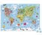 детски пъзел в куфар Janod 300 ел. - Карта на света thumb 3
