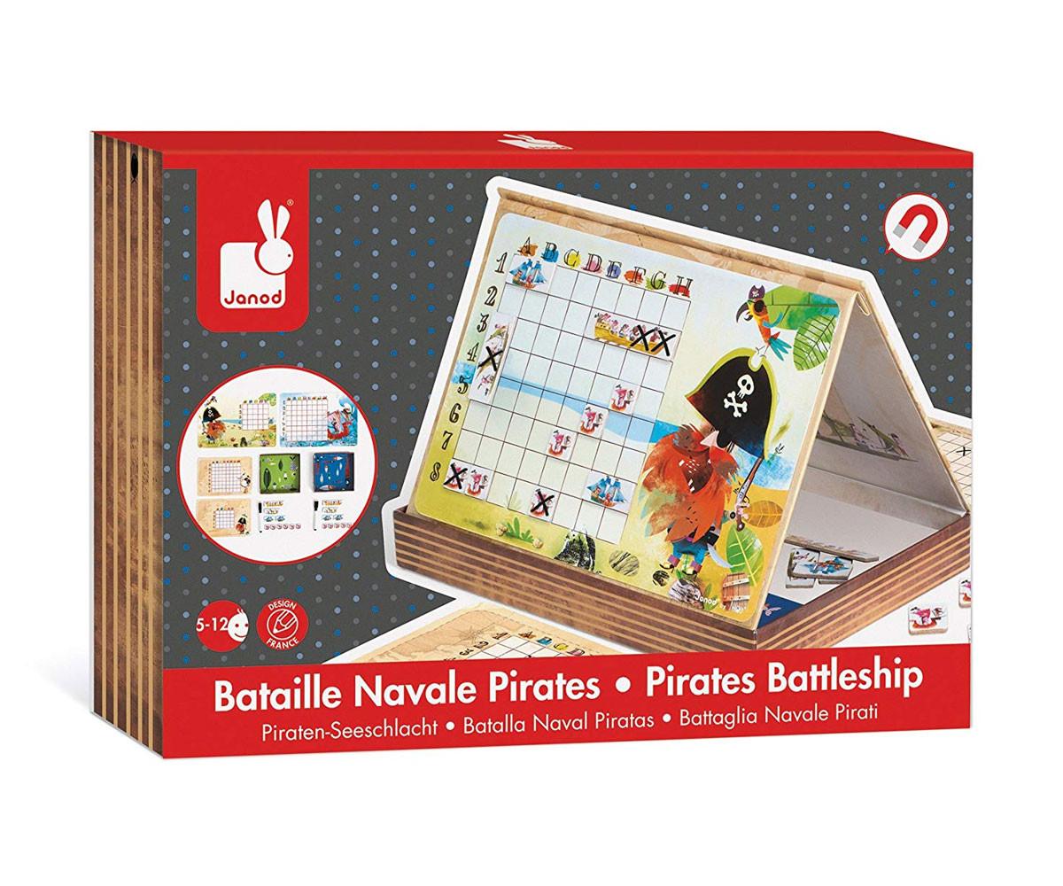 детска стратегическа игра Janod - Пиратски боен кораб