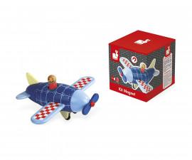детски дървен самолет с магнитно сглобяване Janod