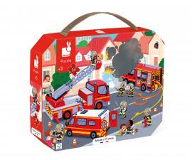 детска дървена играчка с магнитно сглобяване Janod - Ден в зоопарка