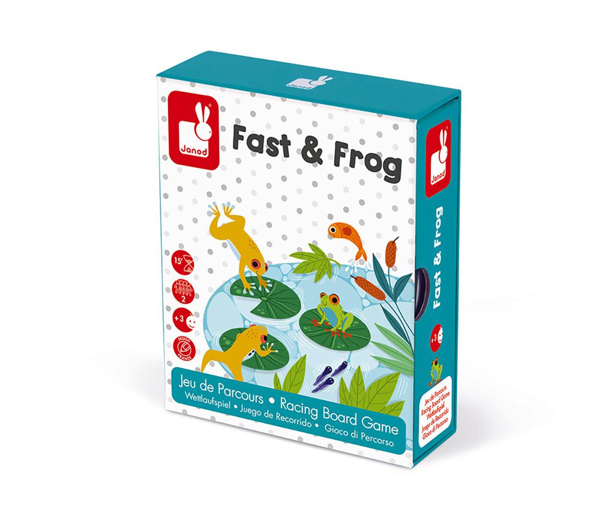 детска състезателна настолна игра Janod - Бързи жаби