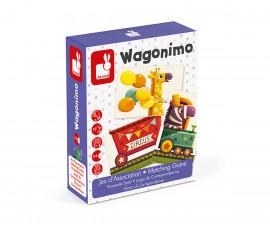 детска настолна игра за съчетаване Janod - Вагончета