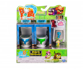 Забавни играчки Flush Force - Чудна баня, 2 Тоалетни чинии и 8 фигури