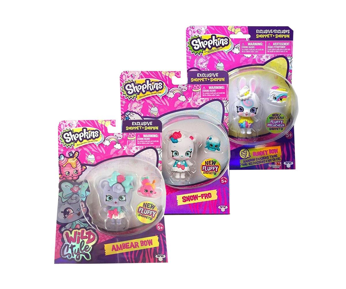 Детска забавна играчка Shopkins: Кукличка с домашен любимец, асортимент
